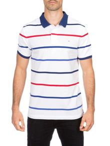 Eden Park Striped Cotton Polo Shirt