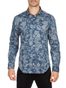 Eden Park Long Sleeved Floral Cotton Shirt