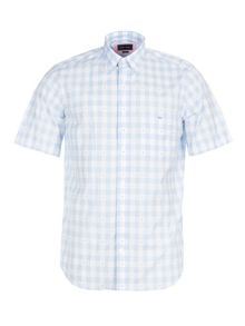 Eden Park Gingham Cotton Shirt With Chest Pocket