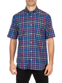 Eden Park Short Sleeved Check Cotton Shirt