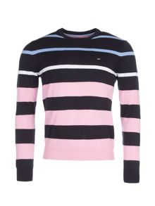 Eden Park Striped Cotton Crew Neck Jumper