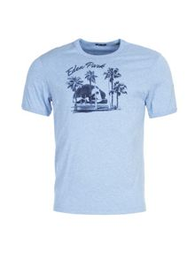 Eden Park Palm Tree Print Cotton T-Shirt