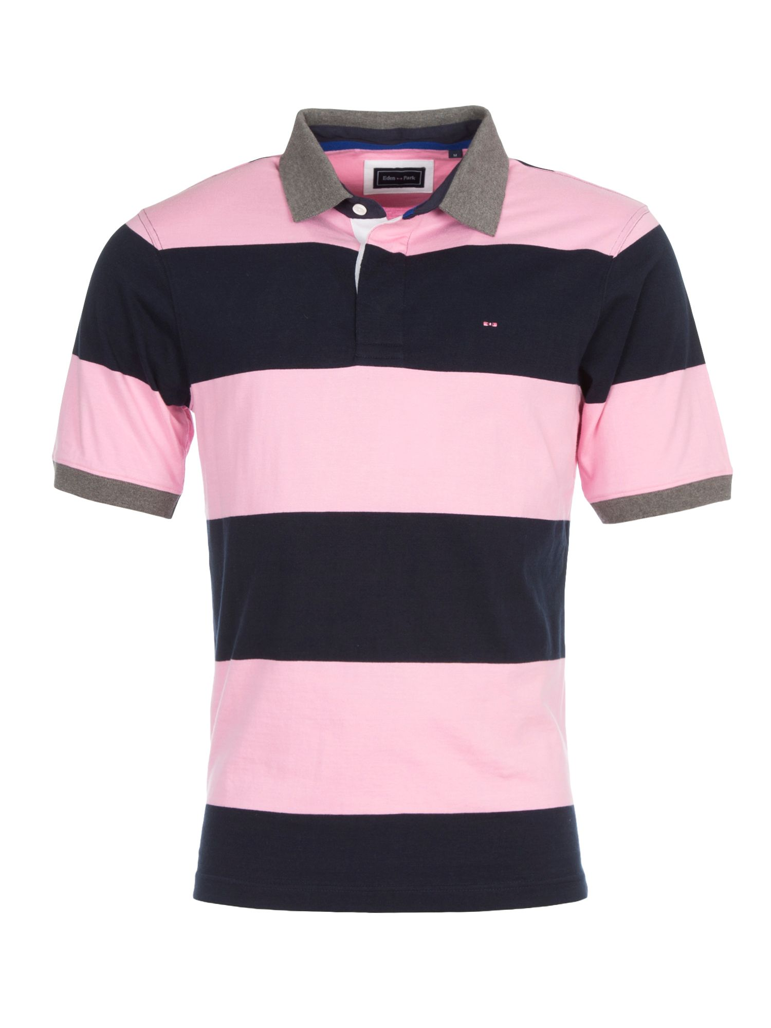 Men's Eden Park Striped Polo Shirt, Pink