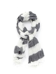 Eden Park Striped Cotton Shirt Scarf