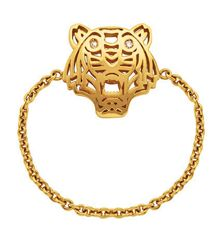 Kenzo 21631015905 Gold Plated & Diamonds Ring