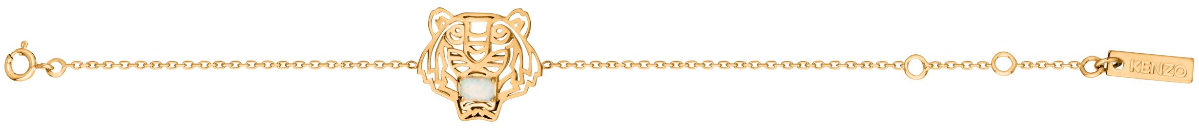 kenzo 263820108190 gold and opal bracelet