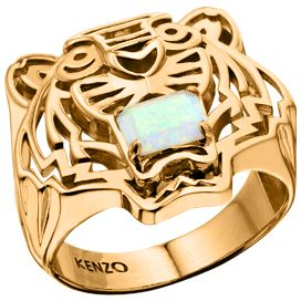 kenzo 26383010805 gold plated opal ring