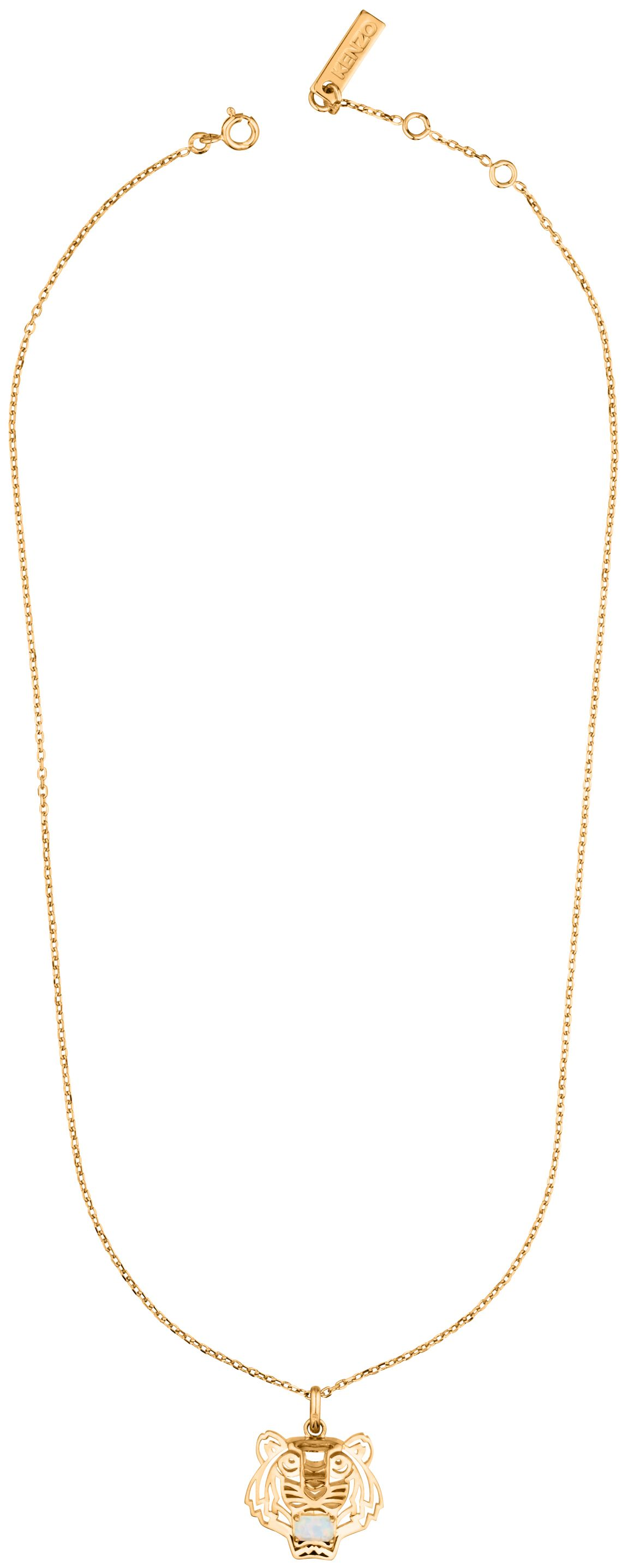 kenzo 263840108048 gold and opal necklace