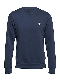 Protected Crew Cotton Blend Crewneck Jumper