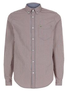Regular fit small checked shirt