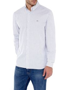Pinpoint checked shirt