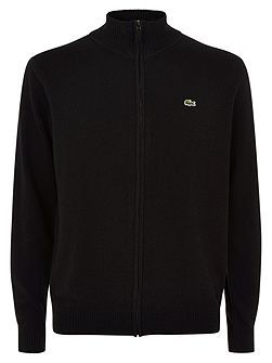 Full Zip High Collar Sweater