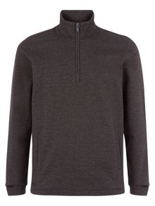 Premium marl half zip sweater