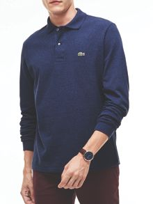 Lacoste Long Sleeved Ribbed Collar Polo