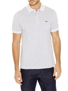 Micro stripe collar polo