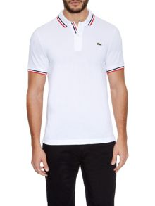 Tipped collar slim fit polo