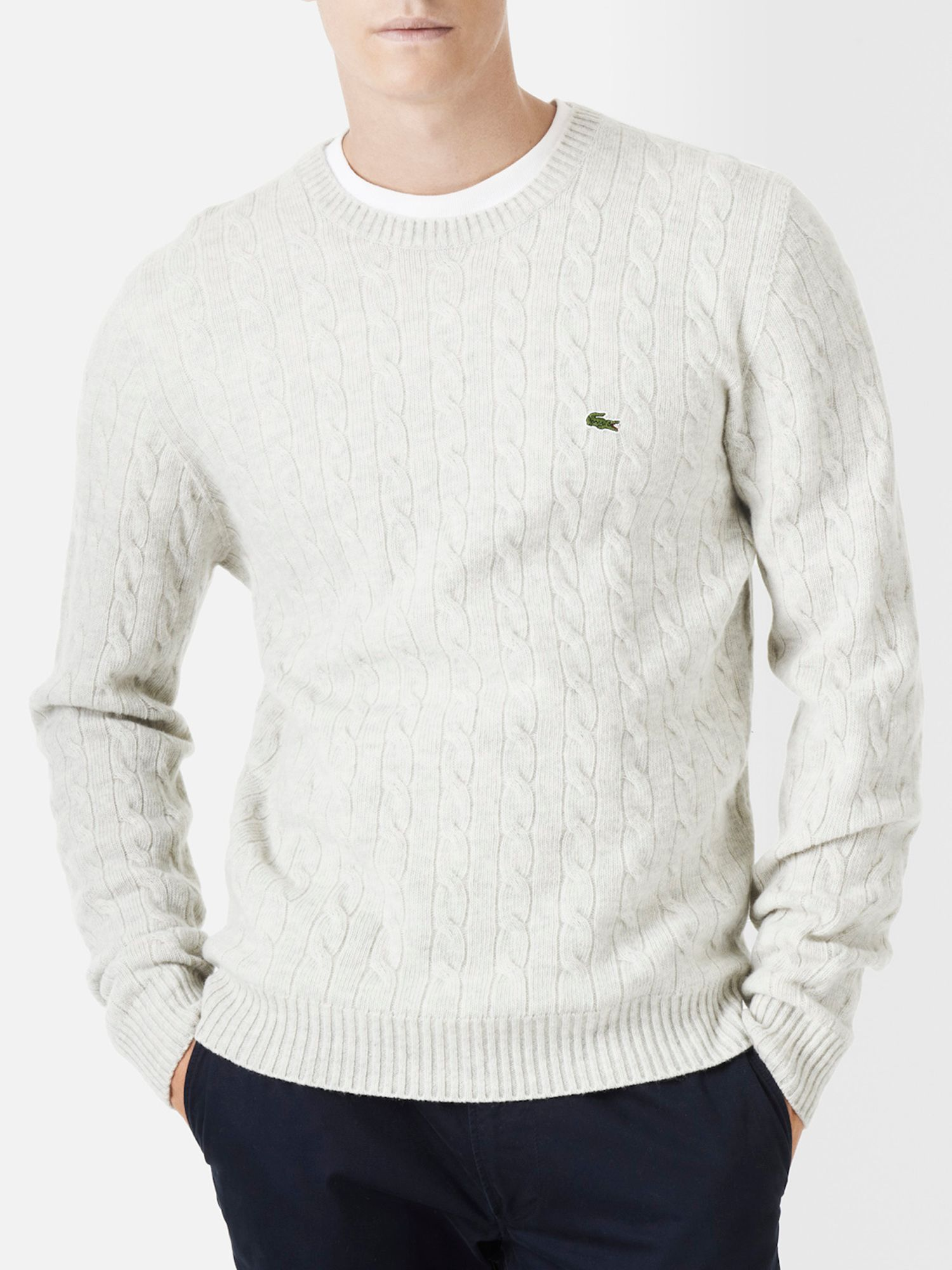 Cable stitch men`s sweater