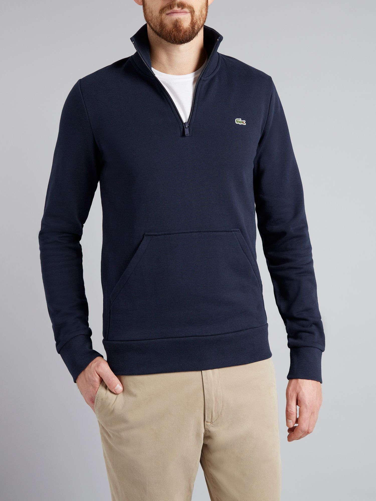 Half zip fleece sweater