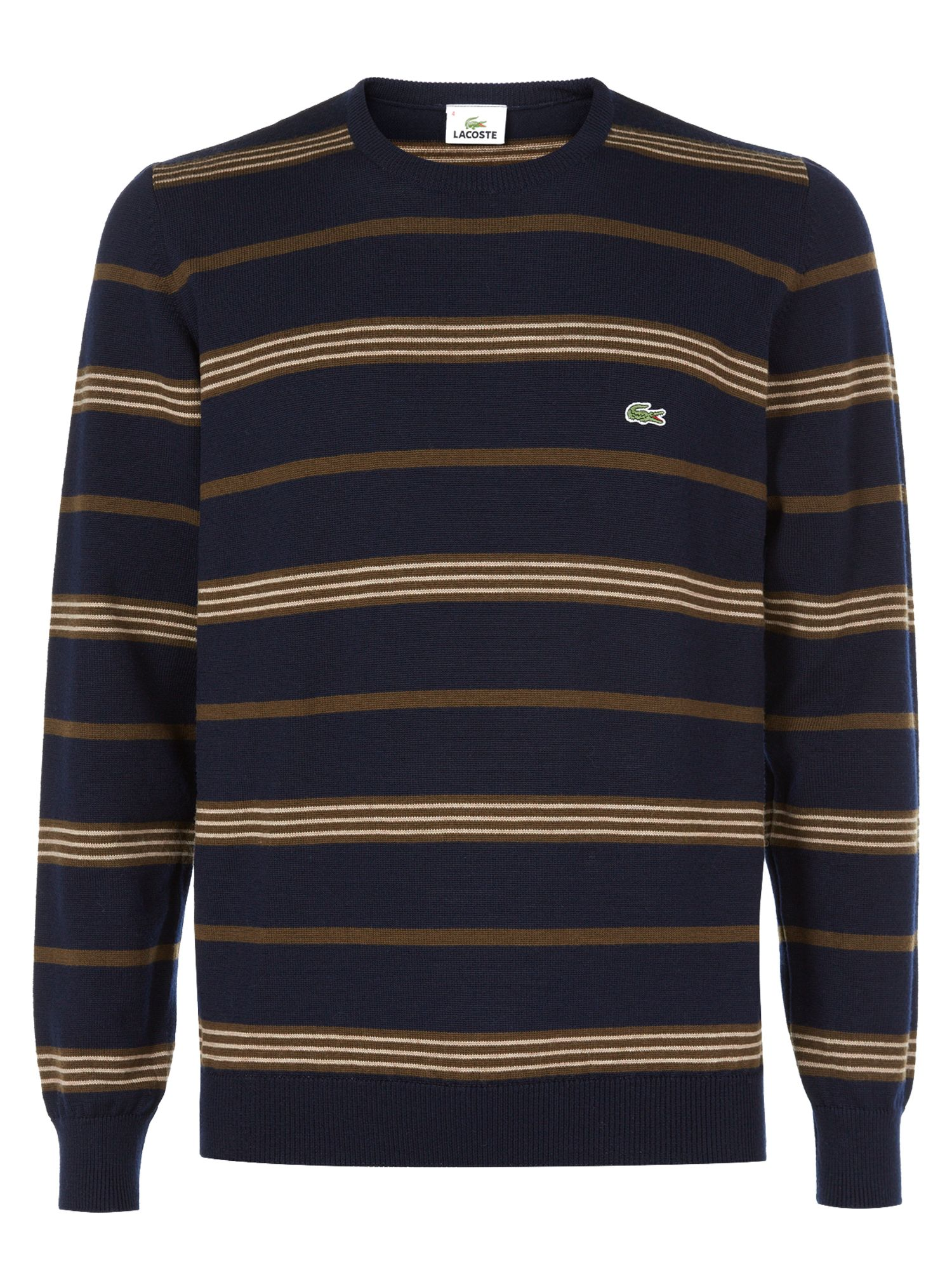 Men's Lacoste Round neck lambswool sweater, Navy