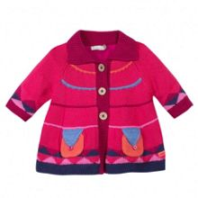 Girls must have knit coat, fleece lining