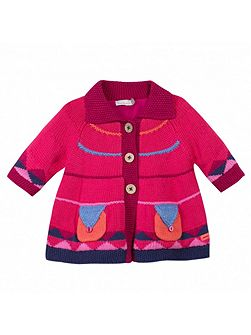 Catimini Girls must have knit coat, fleece lining