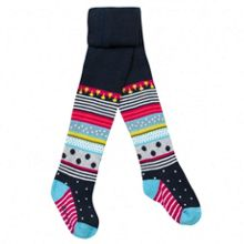Girls tights with geometric motifs