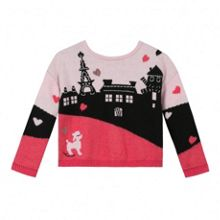 Catimini Girls double-sided cardigan jumper