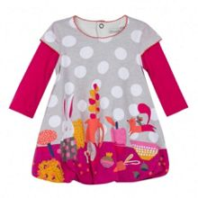 Girls bubble dress in double jersey