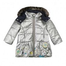 Catimini Girls long hooded padded jacket