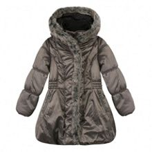 Catimini Girls long puffa jacket with faux fur