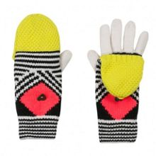 Girls colourful trendy mittens