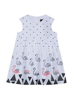 Girls elegant and structured voile dress