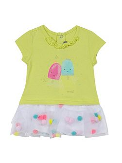 Girls dress with ice cream print