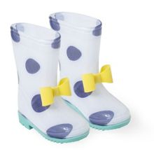 Catimini Girls boots with maxi polka dots