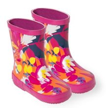 Catimini Girls boots with maxi-floral print