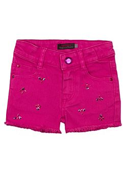 Girls colour denim short