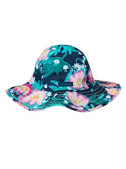 Girls printed voile sun hat