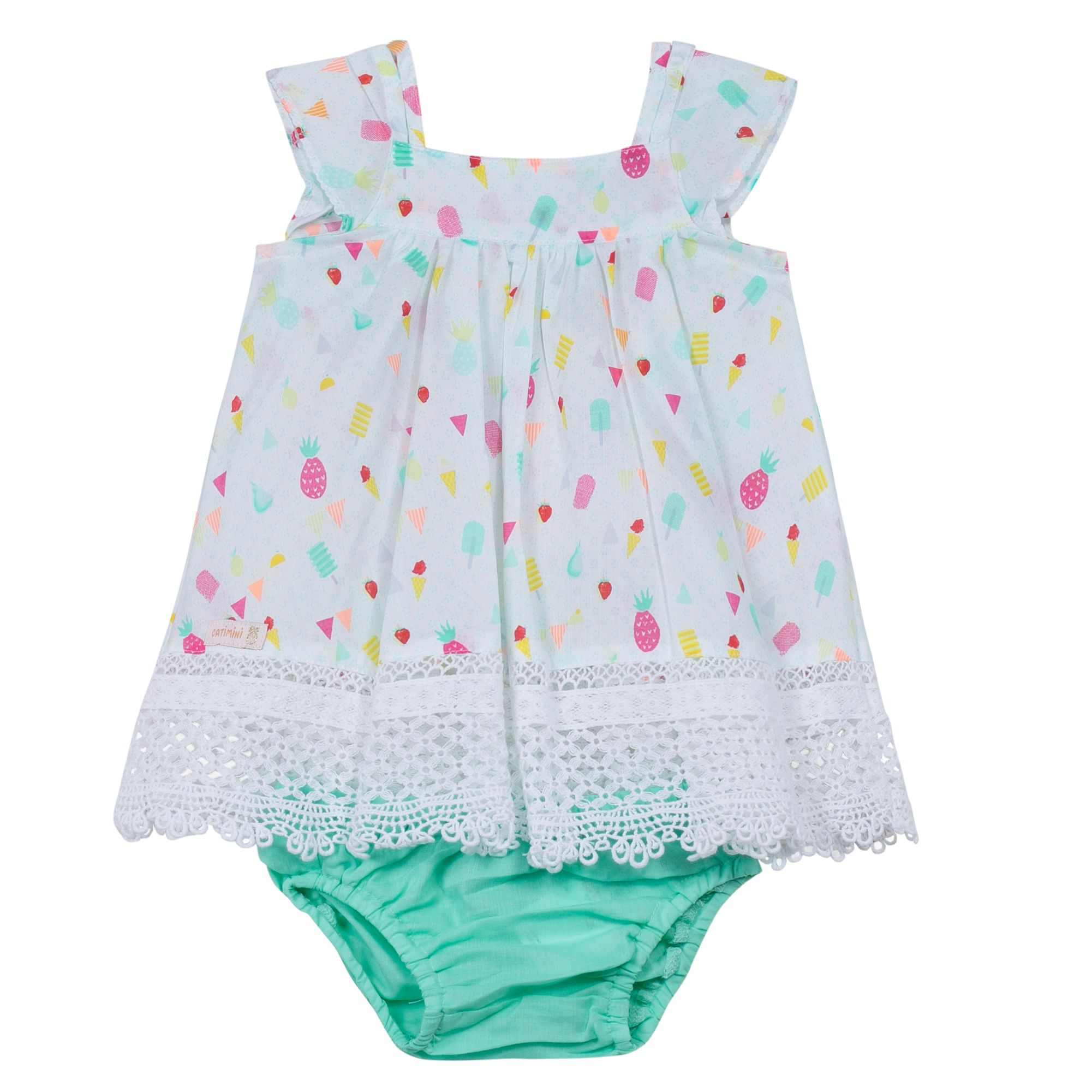 Catimini Girls yummy dress White
