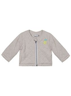 Girls glittery quilted jersey jacket