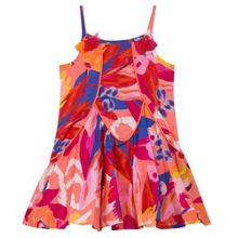 Catimini Girls ethnic maxi-flowers printed dress