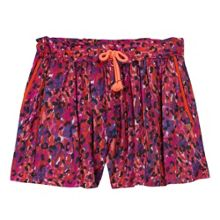 Catimini Girls tachist-inspired star print short