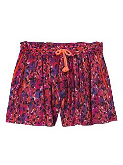Girls tachist-inspired star print short