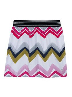 Girls jersey skirt with a graphic print