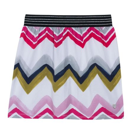 Catimini Girls jersey skirt with a graphic print