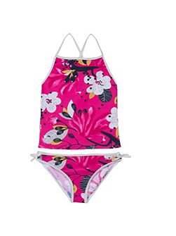 Girls floral one-piece swimsuit