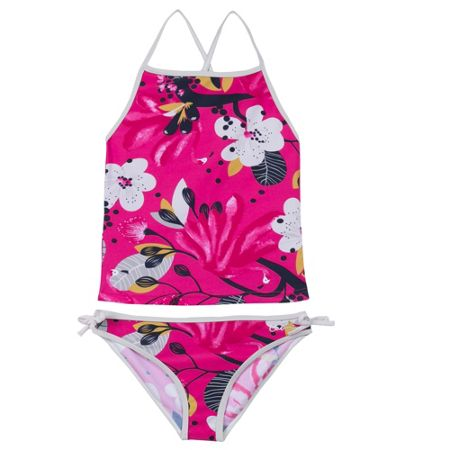 Catimini Girls floral one-piece swimsuit