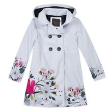 Catimini Girls rubber raincoat with floral print