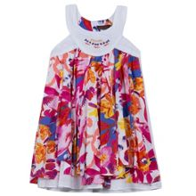 Catimini Girls scarf dress with floral print