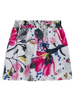 Girls printed viscose skirt