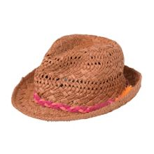 Catimini Girls ethnic-inspired straw hat